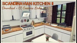 sims 4 scandinavian kitchen ii download cc creators links