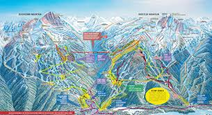 Utah Ski Resort Map by Sunshine Village Trail Maps U0026 Sunshine Village Ski Resort Trail