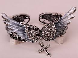 cross bangle bracelet images Angel wings cross bangle bracelet max cuteness jpg
