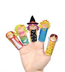 fantasy girls paper finger puppets printable pdf toy diy