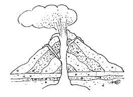 coloring pages volcano volcano coloring pages lovely volcano coloring pages and volcano