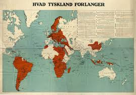 Post Ww1 Map What Germany Demands British Wwi Propaganda Tons Maps On