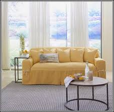 Sure Fit Cotton Duck T Cushion Sofa Slipcover by Sure Fit Slipcovers For Sofas Best Home Furniture Decoration