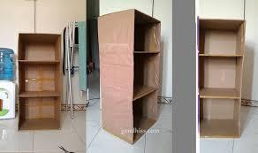 cara membuat lemari buku dari kardus bekas cara membuat rak dari kardus bekas gendhiss blog