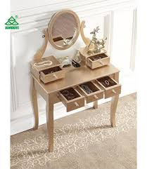 Oak Makeup Vanity Table China Roundhill Furniture Wood Makeup Vanity Table And
