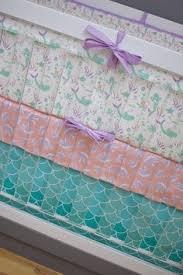 Seashell Crib Bedding Mermaid Crib Bedding Baby Bedding Purple Mint Teal