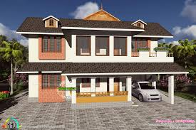 mixed type gabled roof home kerala home design and floor plans