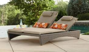 unpretenetious wicker outside lounge chairs for private pool deck