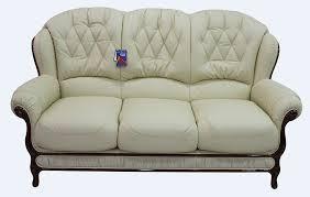 3 Seater Cream Leather Sofa Venice Genuine Italian Leather 3 Seater Sofa Settee Cream