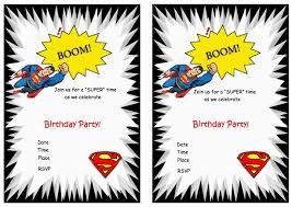 superman free printable birthday party invitations birthday