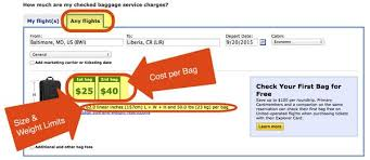 the easy way to find out how much checked bags will cost on united