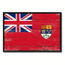 canadian red ensign city canada country vintage flag home decor