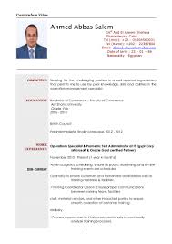 Financial Management Specialist Resume Operations Specialist Cv