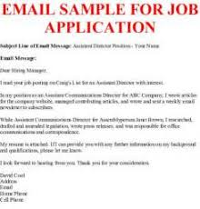 how to write application letter via email