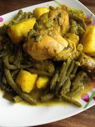 apprendre a cuisiner marocain tagine à la marocaine poulet haricots verts pommes de terre