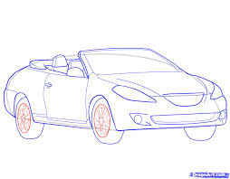 convertible cars how to draw a convertible step by step cars draw cars online