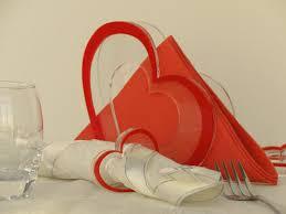 valentine u0027s day gift ideas set of napkin holder and 6 cloth