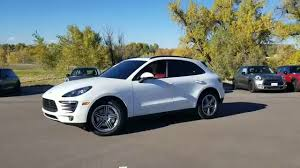 porsche macan white 2015 porsche macan s white on red interior youtube