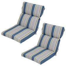 Charleston Outdoor Furniture by Charleston Stripe Outdoor Dining Chair Cushion 2 Pack 7718