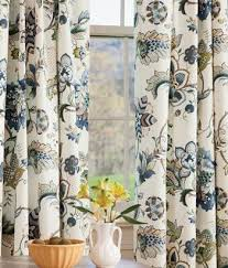Jacobean Floral Curtains Jacobean Floral Lined Rod Pocket Curtains Country Curtains My