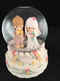 precious moments wedding march bride groom snow globe wedding cake
