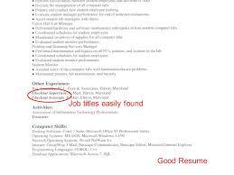 Good Job Titles For Resumes by Effective Engineering Resumes U0026 Job Fair Preparation Joanne Lax