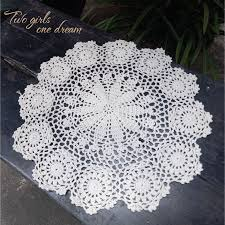 dining room placemats promotion shop for promotional dining room 40cm hand crocheted doily placemat vintage floral coasters home coffee shop dining room hotel table vintage decorative mats 6pcs