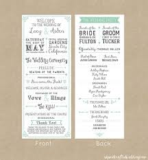 wedding program format wedding invitation programme amulette jewelry