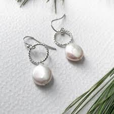 hypoallergenic earrings s freshwater pearl sterling silver earrings handmade by lizardi jewelry
