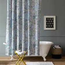 Blue Paisley Shower Curtain Campbell Garden Path Shower Curtain West Elm