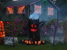 Scary Halloween Door Decorations by Halloween Scary Decoration Ideas Spider Door Design Green Painted