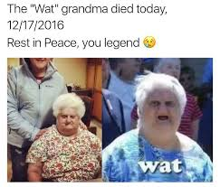 Wat Meme Lady - the wat meme granma died rip best lolz