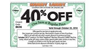 hobby lobby 40 percent all and home decor this week