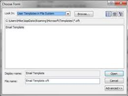 create an outlook email template resolve