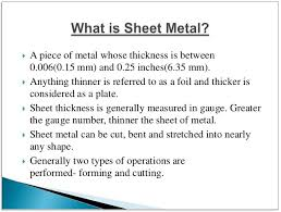 sheet types types of sheet metal operations roofing and siding ideas hash