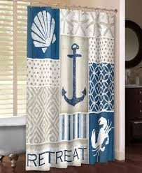 Coastal Shower Curtain by Small Bathroom With Coastal Retreat Shower Curtain And Soft Beige