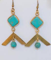 dangly earring v diamond turquoise dangle earring judith