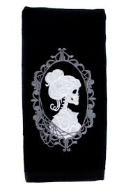 haunted mansion home decor haunted mansion hers skeleton halloween hand towel kitchen and bath