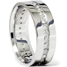 wedding bands for him mens 1 1 10ct diamond eternity comfort wedding band 14k white gold
