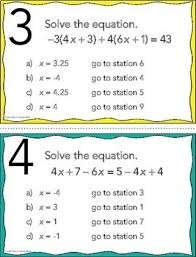 free solving multi step equations stations maze activity by mrs e