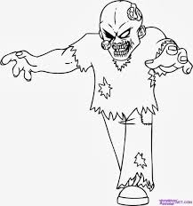 plant vs zombie halloween coloring pages