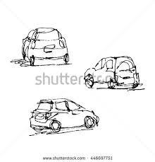 vector hand drawn sketches cars car stock vector 446697751