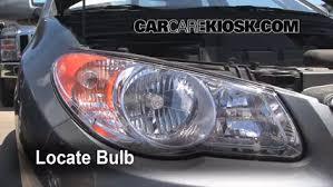 hyundai elantra headlight bulb headlight change 2007 2012 hyundai elantra 2010 hyundai elantra