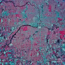 Map Of Lansing Michigan by Satellite View Of Lansing Michigan Photograph By Stocktrek Images