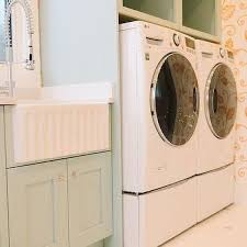 Washer And Dryer Cabinet Green Laundry Room Cabinets With Whirlpool Washer And Dryer