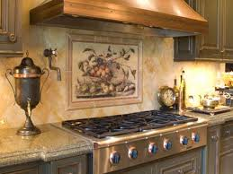 backsplashes tuscan tile murals kitchen backsplash tile murals