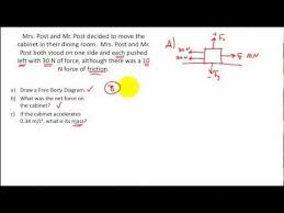 net force practice problems calculating the net force free body