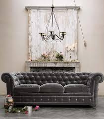 canap chesterfield velour decoration canapé chesterfield velours gris anthracite déco vintage