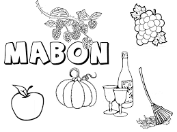 mabon collection pagan acorns coloring pages