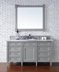 contemporary 60 inch single bathroom vanity gray finish no top